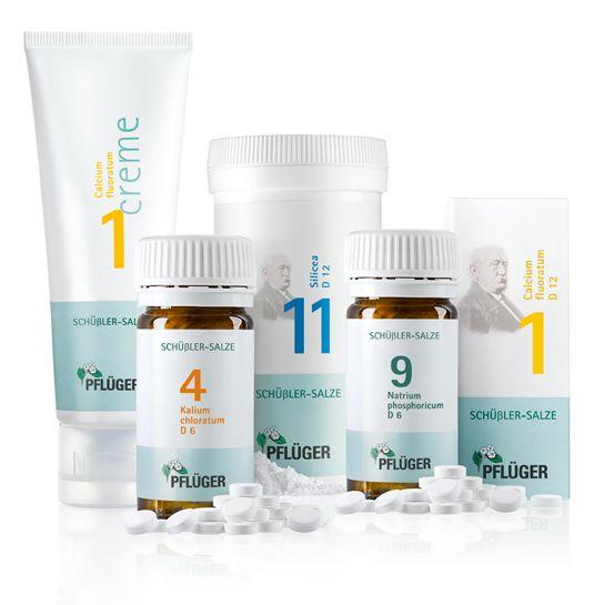 Schöne-Beine mit Schüßler-Salzen von Pflüger, Schüßler-Salze Biochemie Pflüger® Nr. 1 Calcium fluoratum D 12, Schüßler-Salze Biochemie Pflüger® Nr. 4 Kalium chloratum D 6,Schüßler-Salze Biochemie Pflüger® Nr. 9 Natrium phosphoricum D 6, Schüßler-Salze Biochemie Pflüger® Nr. 11 Silicea D 12 Pflichttextangaben http://www.pflueger.de/pflichtangaben.l