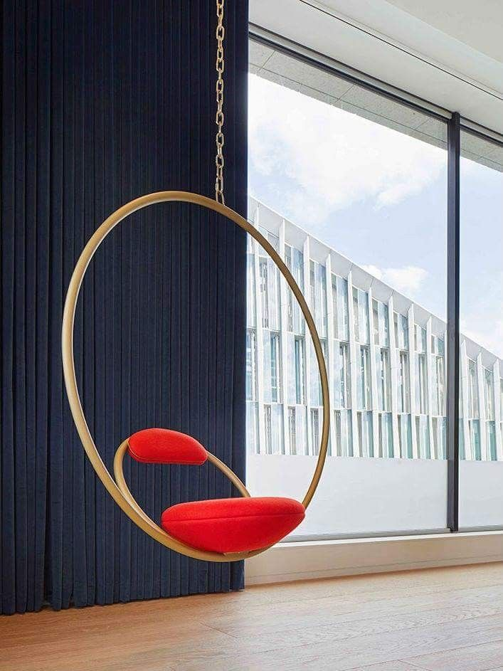 Modern suspended chair