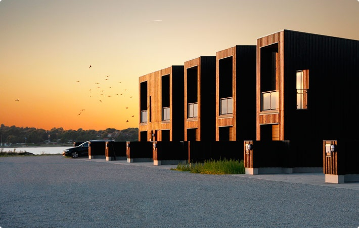 Housing by The habour of Struer, Denmark, by KPF Architects