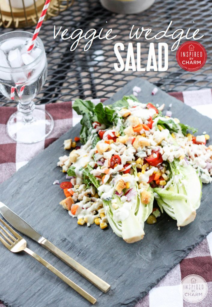 Veggie Wedgie Salad via Inspired by Charm