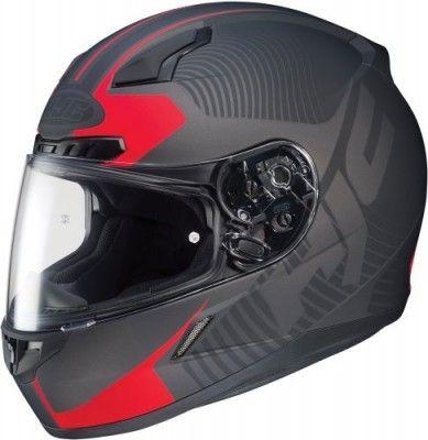 Capacete HJC CL-17 Mission - Full Face Motorcycle Helmet Red Matte Black #Capacete #HJC