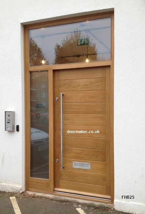 contemporary oak door fhb25