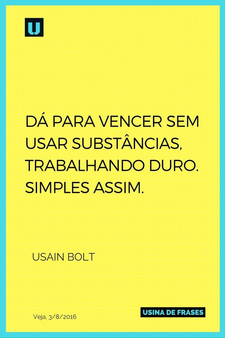 Usain Bolt, 9 medalhas de ouro em três Olimpíadas, diz o que pensa sobre doping. #UsinadeFrases