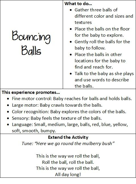 At play with baby: bouncing balls   Teach Preschool
