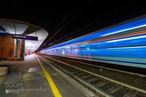 Stazione di Latina by kombax  bruno treno stazione ferrovie binari partenza scalo biglietti arrivo furi Latina partenbza kombax