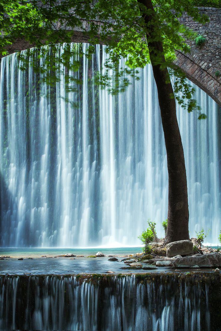 Power of nature - Double waterfall near Trikala