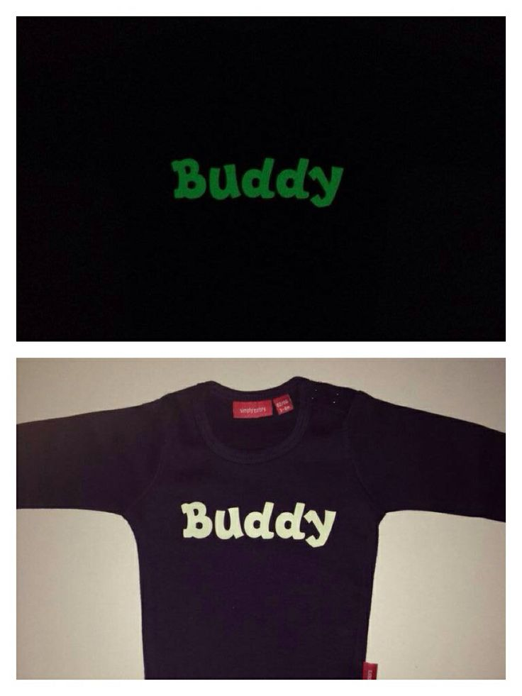Glow in dark personalised babygrow from simplycolors.co.uk perfect for bed time!