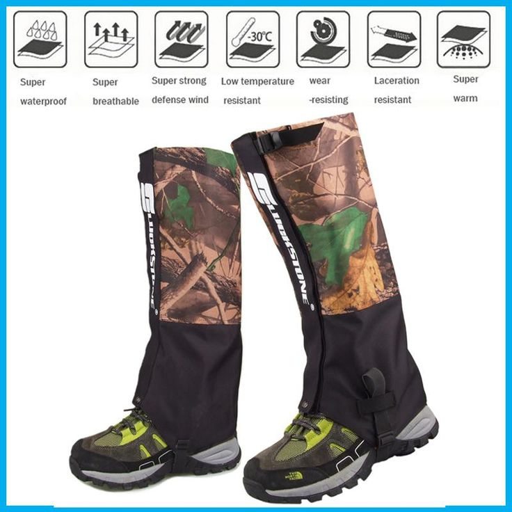 [Visit to Buy] 2017 new  Waterproof Outdoor Hiking Walking Climbing Snow Legging Gaiters adult camouflage Gaiters travel kit shoe cover Hunting #Advertisement