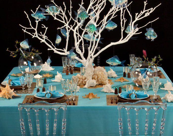 Underwater Themed Table Settings Google Search Table