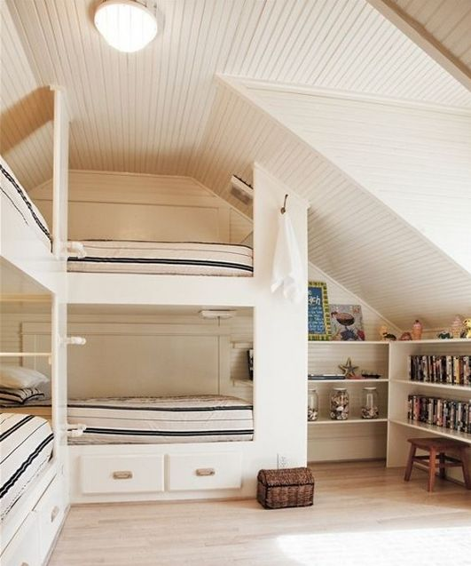 10 Great Ideas To Jazz Up A Small Square Bedroom: Built In Beds For Half Story Or Attics: 10+ Handpicked