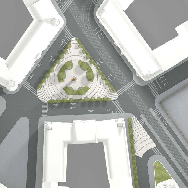 Konecny Square in Brno, Czech Republic, architectural design Jana Kastanek