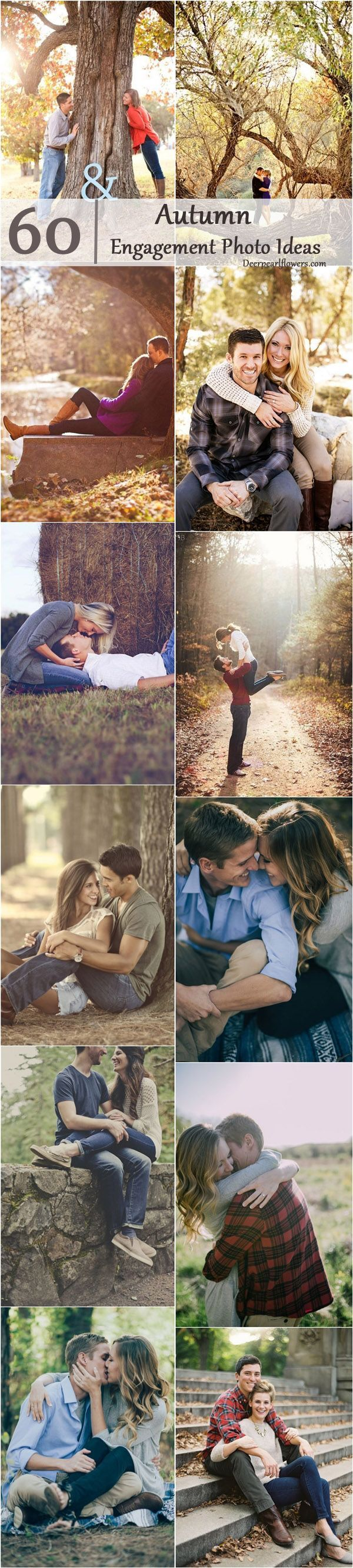 Fall Engagement Photo Shoot and Poses Ideas / http://www.deerpearlflowers.com/fall-engagement-photo-ideas/