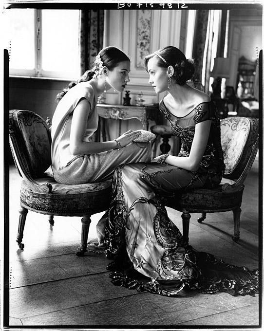 Models in couture shot by Arthur Elgort