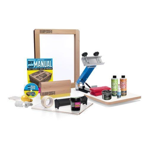 Cloth Screen Printing Kit. Create t-shirts, cushion covers, cloths, etc. Nice side hustle you can do from home!