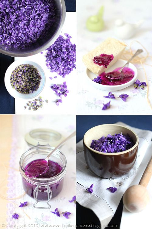 A Polish blog with translation button for English. Violet jelly and jam recipes, violet cake, violet sugar and many more recipes made with violet flowers