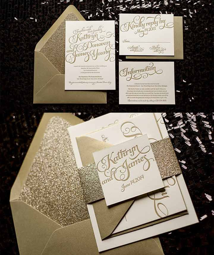 Font is way too flowery with dense text, but beautiful packaging. I like the accented incorporation of the gold metallic/sparkle.