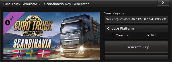 Euro Truck Simulator 2 – Scandinavia Key Generator – FREE Activation Code ~ 23 gp king