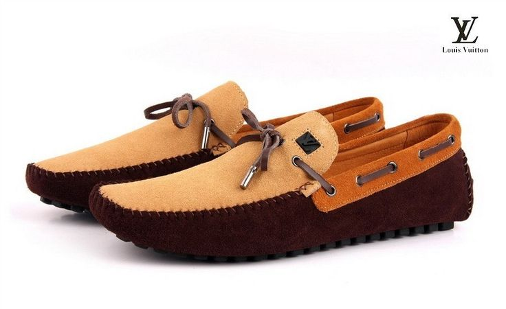 Louis Vuitton Loafers For Men Khaki Brown LS-206