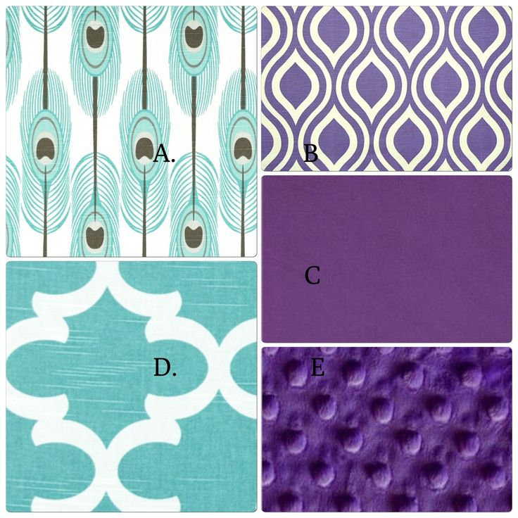 Teal and Purple Crib Bedding Set Peacock Feather Inspired by butterbeansboutique on Etsy https://www.etsy.com/listing/217812877/teal-and-purple-crib-bedding-set-peacock
