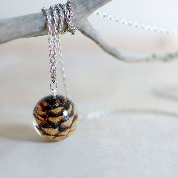 Pine cone necklace woodland autumn fall jewelry by Goodthings88,