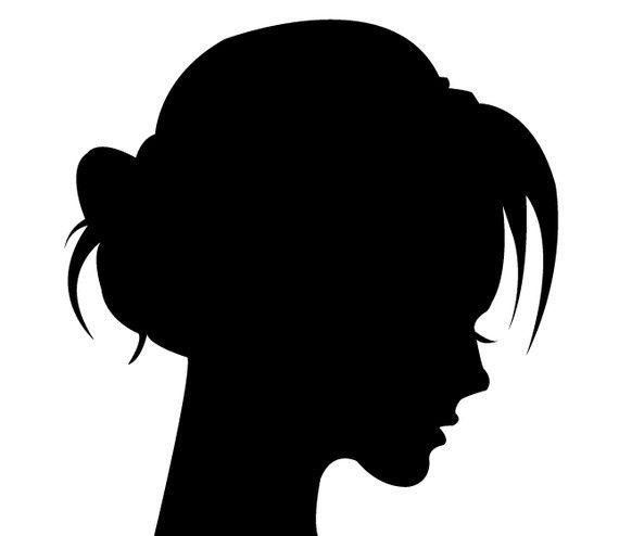 Силуэты девушек и детей. | Творческая мастерская Марины Трублиной