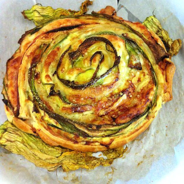 Rosa di sfoglia al profumo di Parmigiano