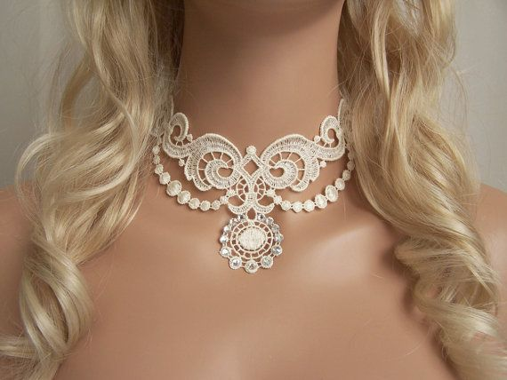 Lace choker. Almost too Gothic, but saving in case I have a lace dress.
