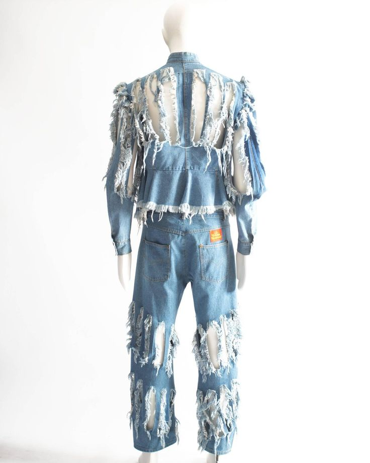 Vivienne Westwood Mens 'Cut, Slash and Pull' denim suit, SS 1991
