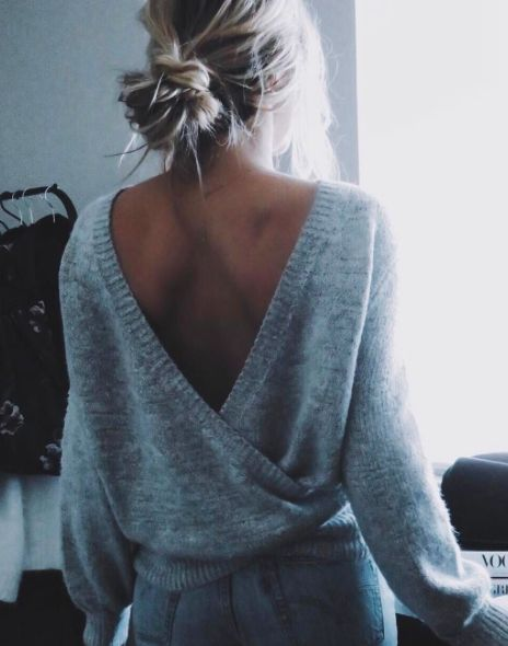 a soft ballet style cross cardigan and soft bun
