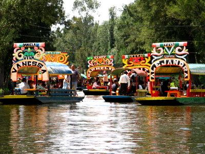 Xochimilco, the Floating Gardens, so beautiful.
