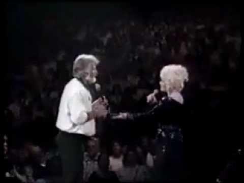 We've Got Tonight - Dolly Parton   Kenny Rogers live 1985 - Lyrics.flv
