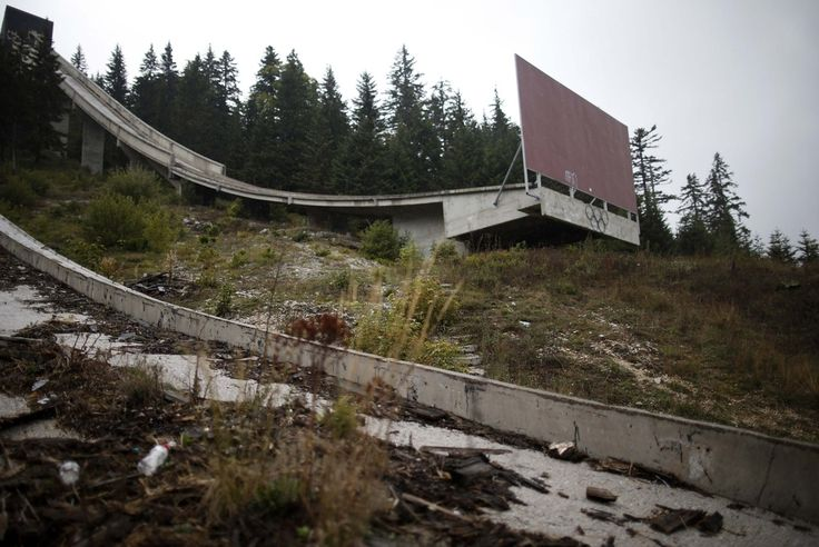 But the ends of the ski jumps are now blocked off. | 19 Haunting Pictures Of The Abandoned 1984 Winter Olympics Venues