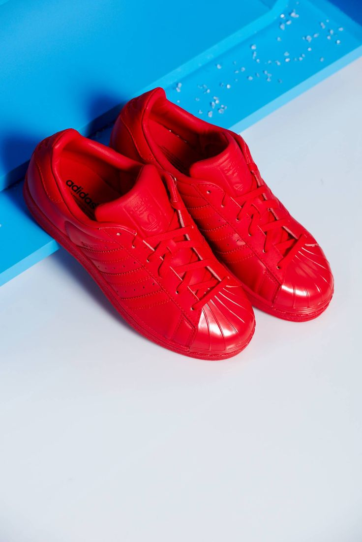 Comanda online, Pantofi sport Adidas Originals Superstar 80s rosu cu siret. Articole masurate, calitate garantata!