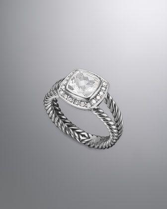 David Yurman Petite Albion Ring, White Topaz -