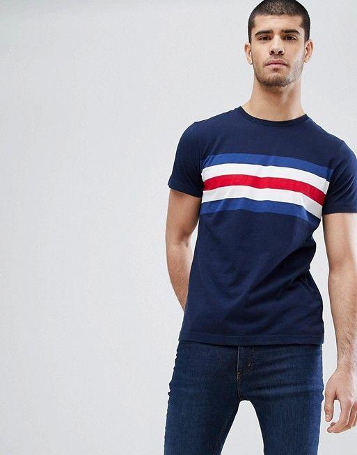 2ff565ca Tommy Hilfiger Lars Icon Chest Stripe T-Shirt in Navy   asos men ...