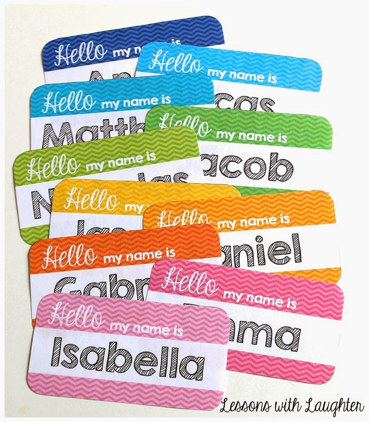 Lessons with Laughter: Chevron Name Tags for Student Chairs!