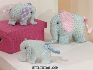 Elefantes de tela: Heart-Of-Pink Elephant, Fabric, Elefantes De, Elefant De Tela, Elephant, Sewing, Tutorials Almofada, Cushion, Crafts