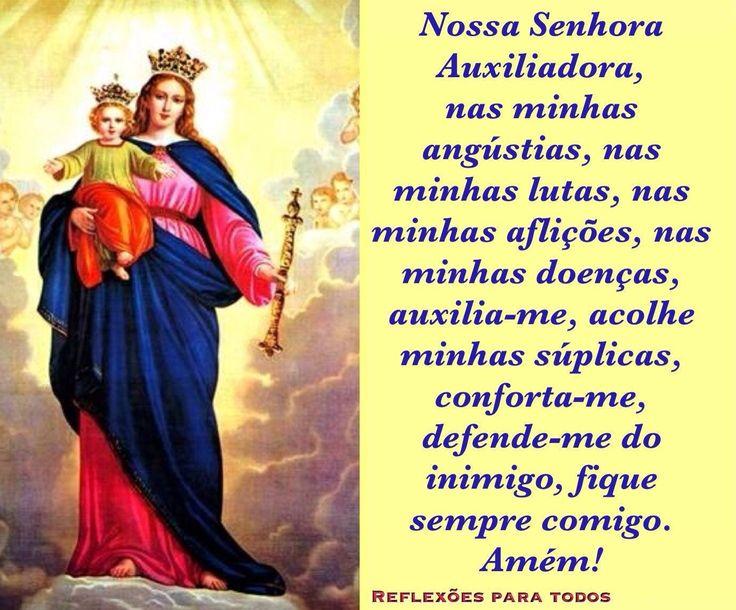 """""""Oração a Nossa Senhora Auxiliadora"""" (com link para o dia de sua comemoração)."""