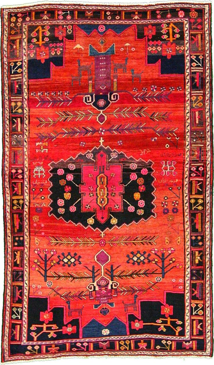 Red 5' 10 x 9' 9 Hamedan Rug | Persian Rugs | eSaleRugs