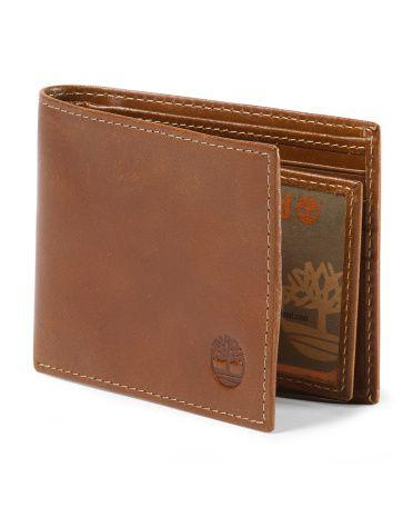 Leather Buff Apache Wallet - TIMBERLAND cognac