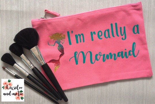 A personal favourite from my Etsy shop https://www.etsy.com/uk/listing/538507725/mermaid-make-up-bag-pink-make-up-bag