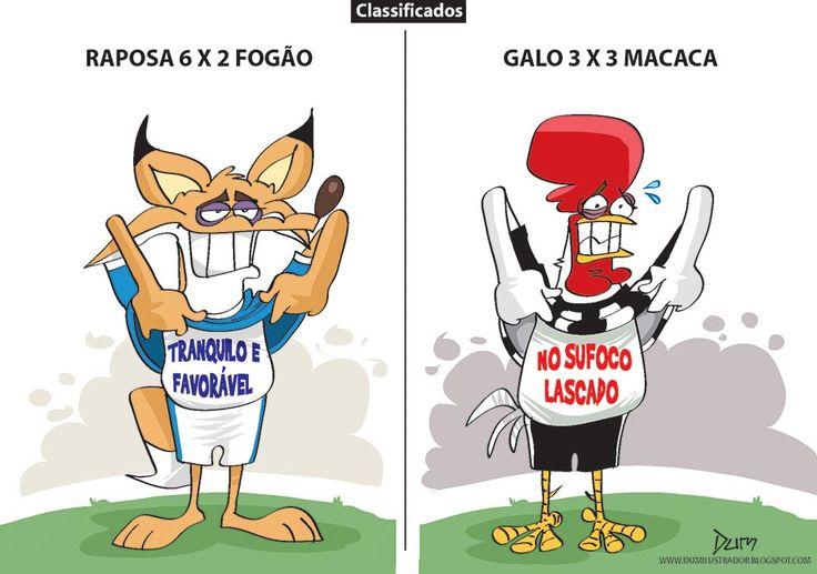 Charge do Dum (Zona do Agrião) sobre o desempenho de Atlético e Cruzeiro na Copa do Brasil (22/09/2016). #Charge #Dum #Cruzeiro #Atlético #Galo #CopaDoBrasil #PontePreta #Botafogo #HojeEmDia