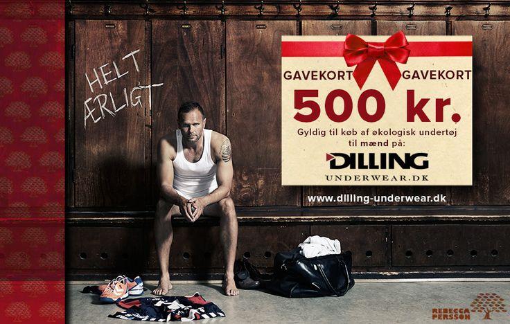 9. Svanemærket økologisk undertøj i uld eller bomuld fra Dilling Underwear. Gavekort på 500 kr.