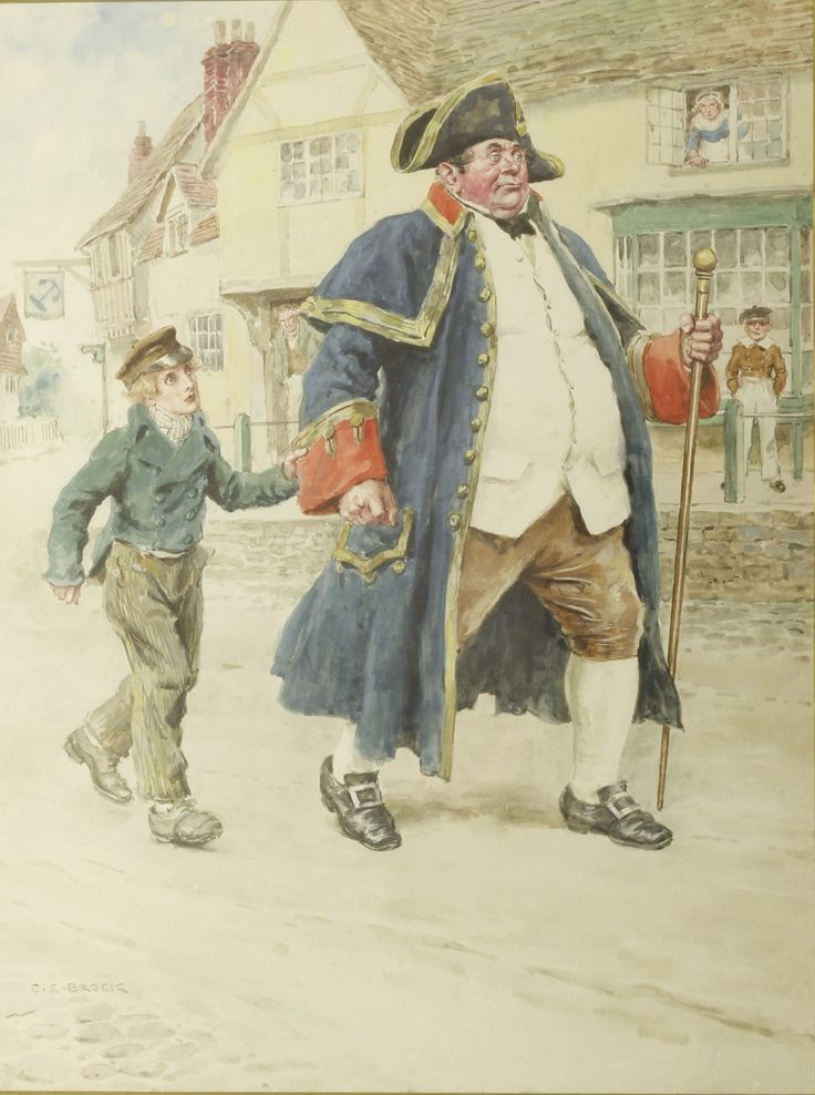 Original Watercolour for Oliver Twist by BROCK, C.E. - Jonkers Rare Books