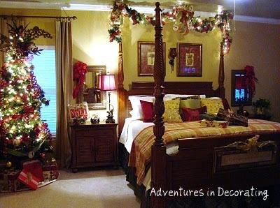 Christmas Bedroom Decor 251 best *christmas ~ bedroom & powder room decor images on