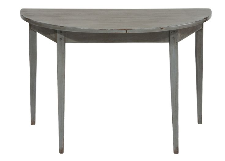 Buy Newport Demi-Lune by Jefferson West Inc. - Made-to-Order designer Furniture from Dering Hall's collection of Rustic / Folk Traditional Console Tables.