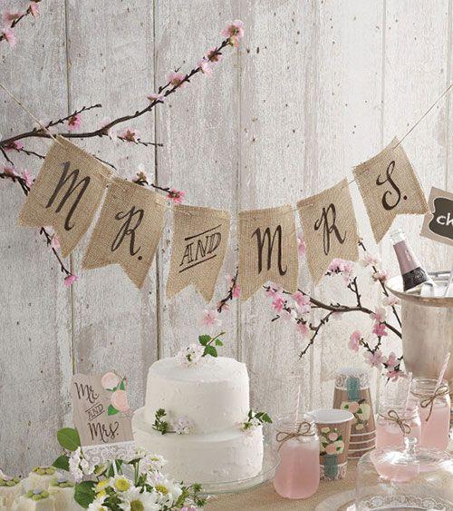"""Jute-Girlande """"Mr and Mrs"""" - 1,52 m   Rustic Wedding   Deko-Serien   Dekoration   Hochzeit   My Bridal Shower"""