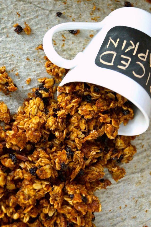 Spiced Pumpkin Double Roasted Granola Recipe