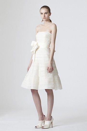 vera wang informal short wedding dress