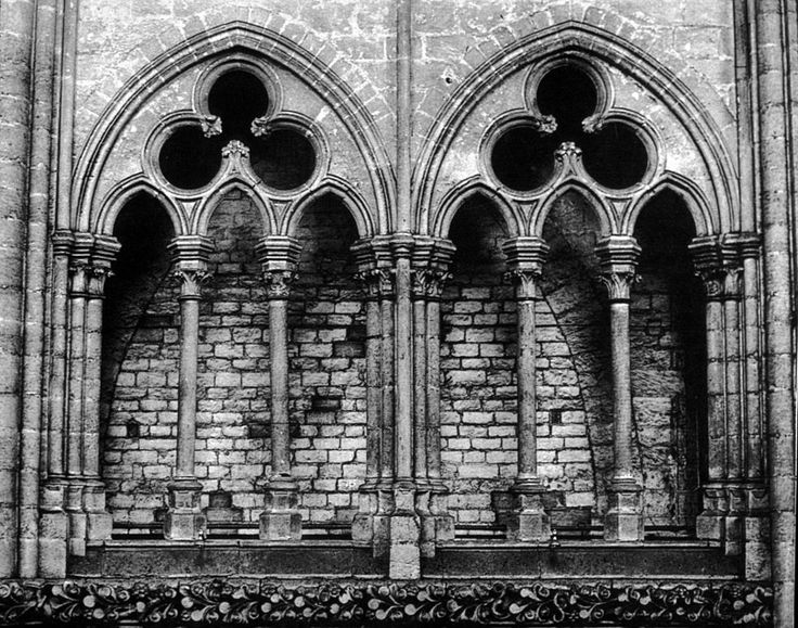 Amiens Cathedral Nave Triforium Detail With Trefoil Tracery. Window  LightsHouse ArtGothic ...